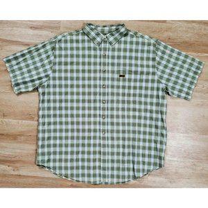 Carhartt Mens S117 Short Sleeve Plaid Green Shirt
